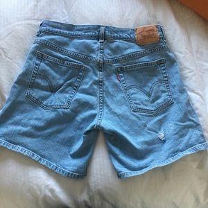 Levi's Shorts - Light wash levis high waisted shorts 515